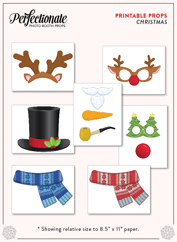 graphic relating to Christmas Photo Props Printable identified as Printable 80s Picture Booth Props