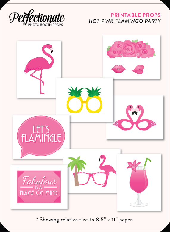 picture relating to Flamingo Printable named Flamingo Printable Picture Props