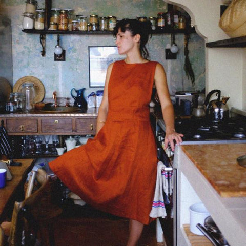 Linen Painter Studio Dress
