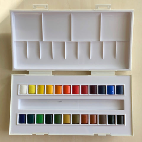 Watercolour Travel 24 Half Pans by Sennelier