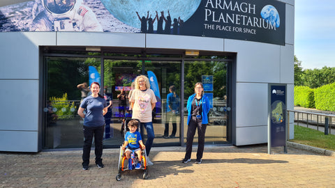Adam King with staff members at Armagh Planetarium & Observatory