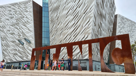 Adam King and Family at Titanic Belfast Summer 2021