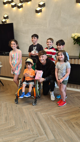 Adam King meets Joel M with family and friends