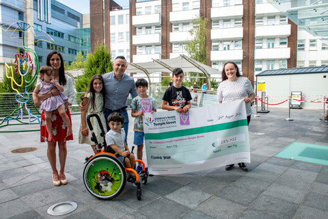 Adam King and Family with Cheque presentation to CHI at Temple St