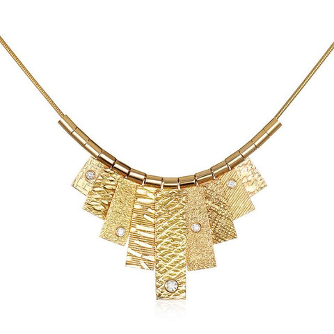 9 Tab Gold Necklace