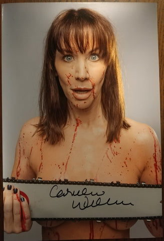 Caroline Williams - Unafraid signed 8x12 (damaged)