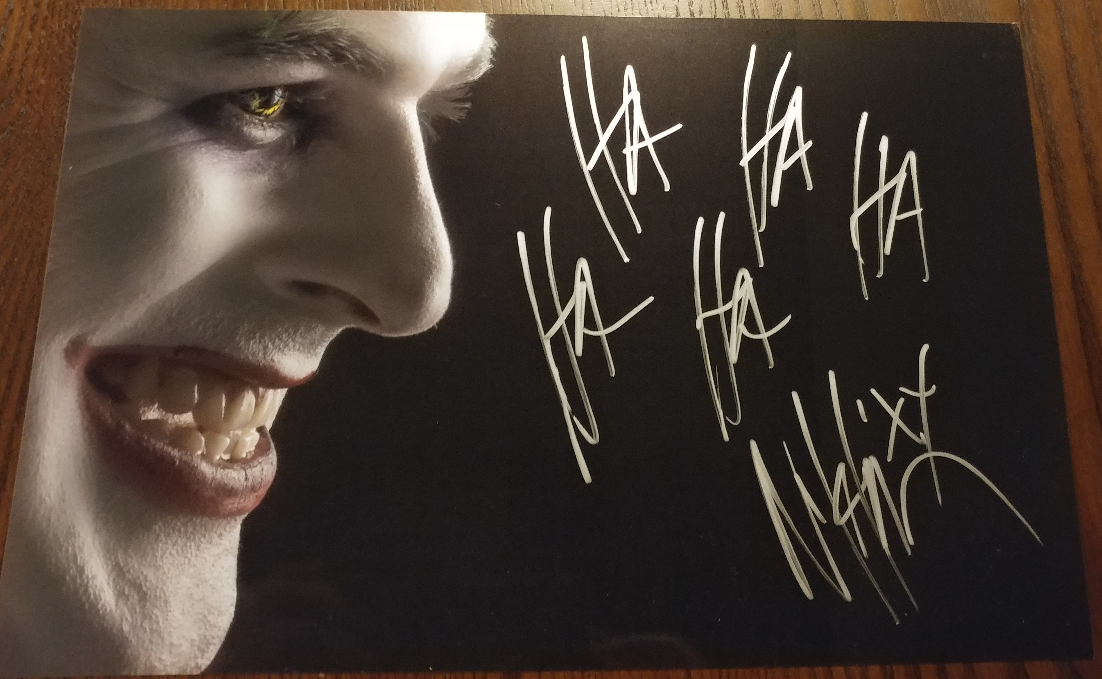 Nikki Misery - Joker - Dark Smile signed 8x12 (damaged)