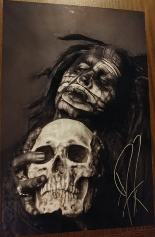 Ghost - The Love of Death signed 8x12 (damaged)