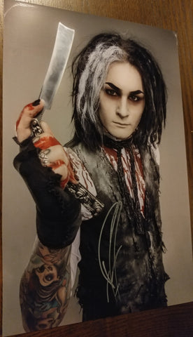Ghost - Sweeny Todd The Demon Barber signed 8x12 (damaged)