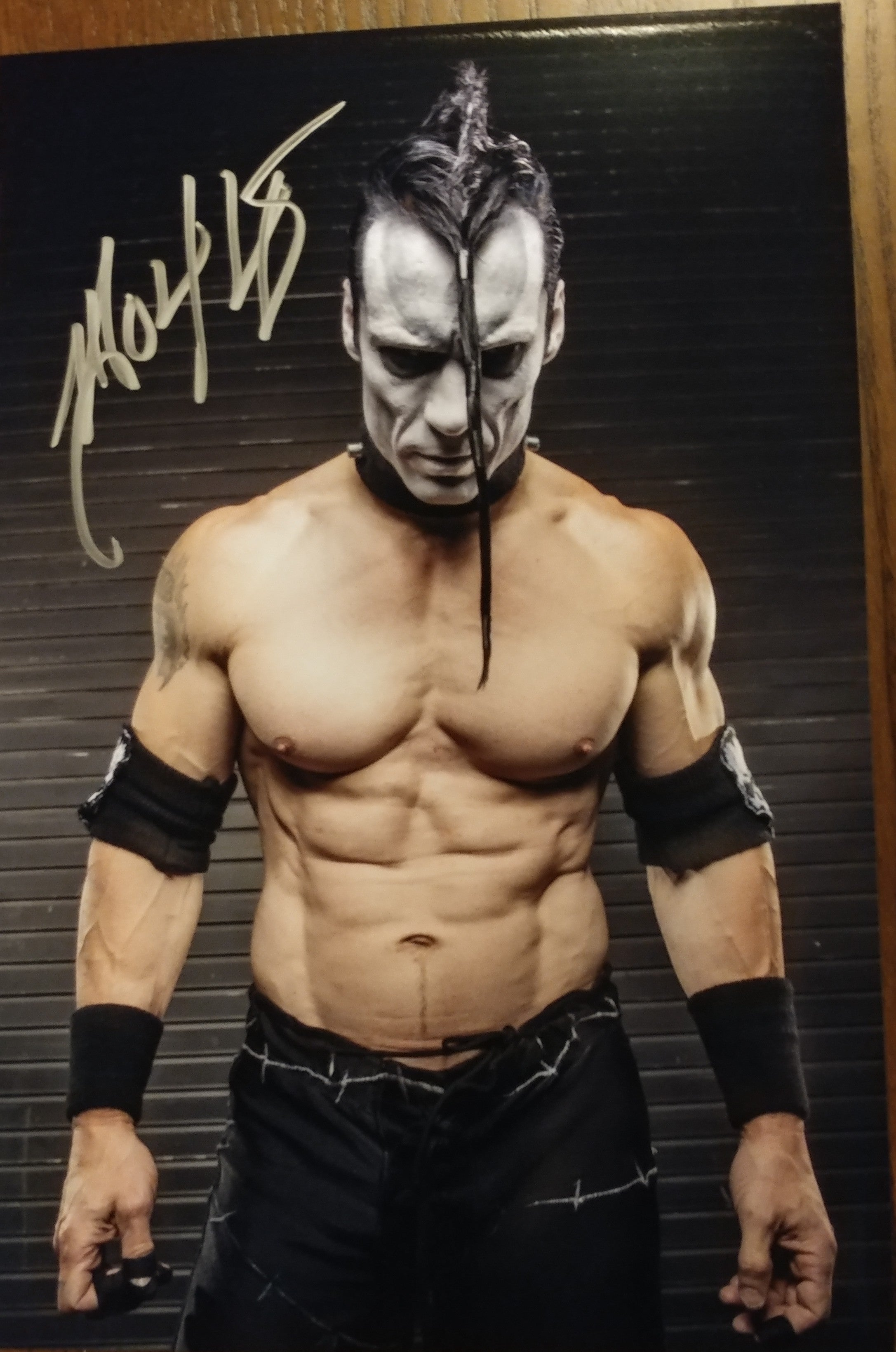Doyle - Beast signed 8x12 (damaged)