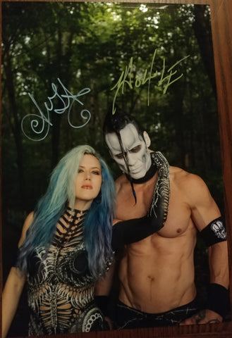 Alissa and Doyle - Woods Of Canada signed 8x12 (damaged)