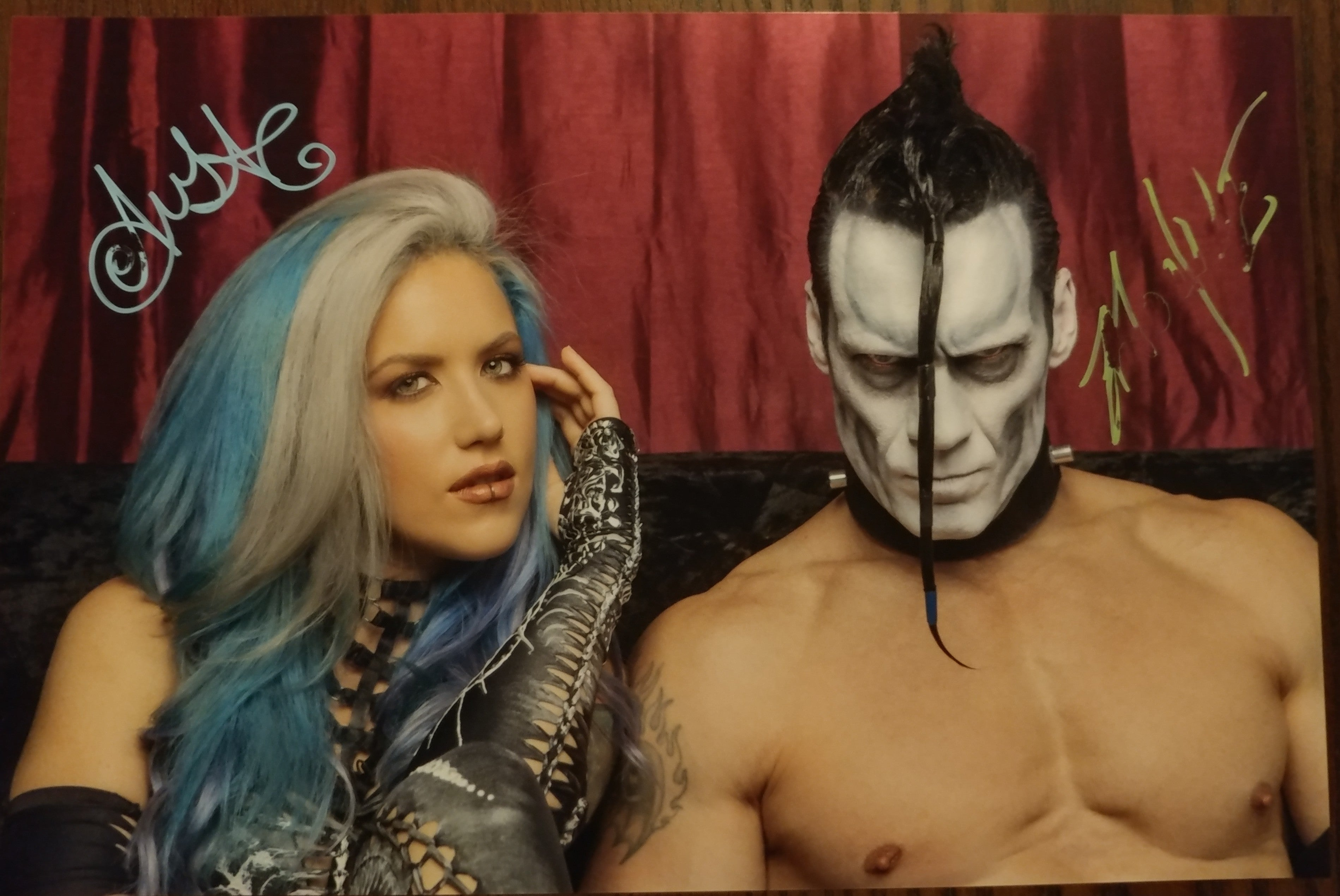 Alissa & Doyle Red and Black signed 8x12 print(smudged autograph)