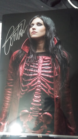 Cristina Scabbia - Halloween - Signed Limited Edition Metallic Print