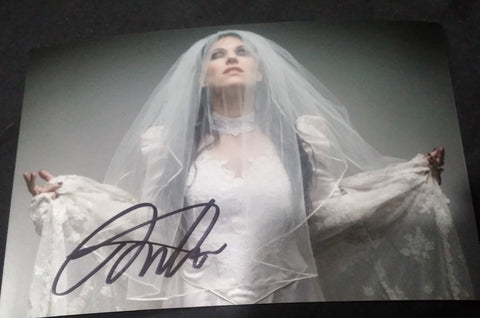 Cristina Scabbia - Wedding Dress - Signed Limited Edition Metallic 4x6 Mini Print