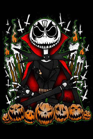 The Pumpkin King... Diamond 4x6 Metallic Art Mini-Print