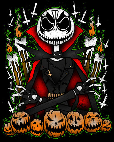 The Pumpkin King... Diamond 8x12 Metallic Art Print - SIGNED by Angelo Parente