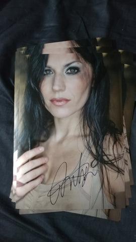 Cristina Scabbia - Downfall - Signed Limited Edition Metallic Print
