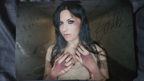 Cristina Scabbia - My Demons - Signed Limited Edition Metallic Print