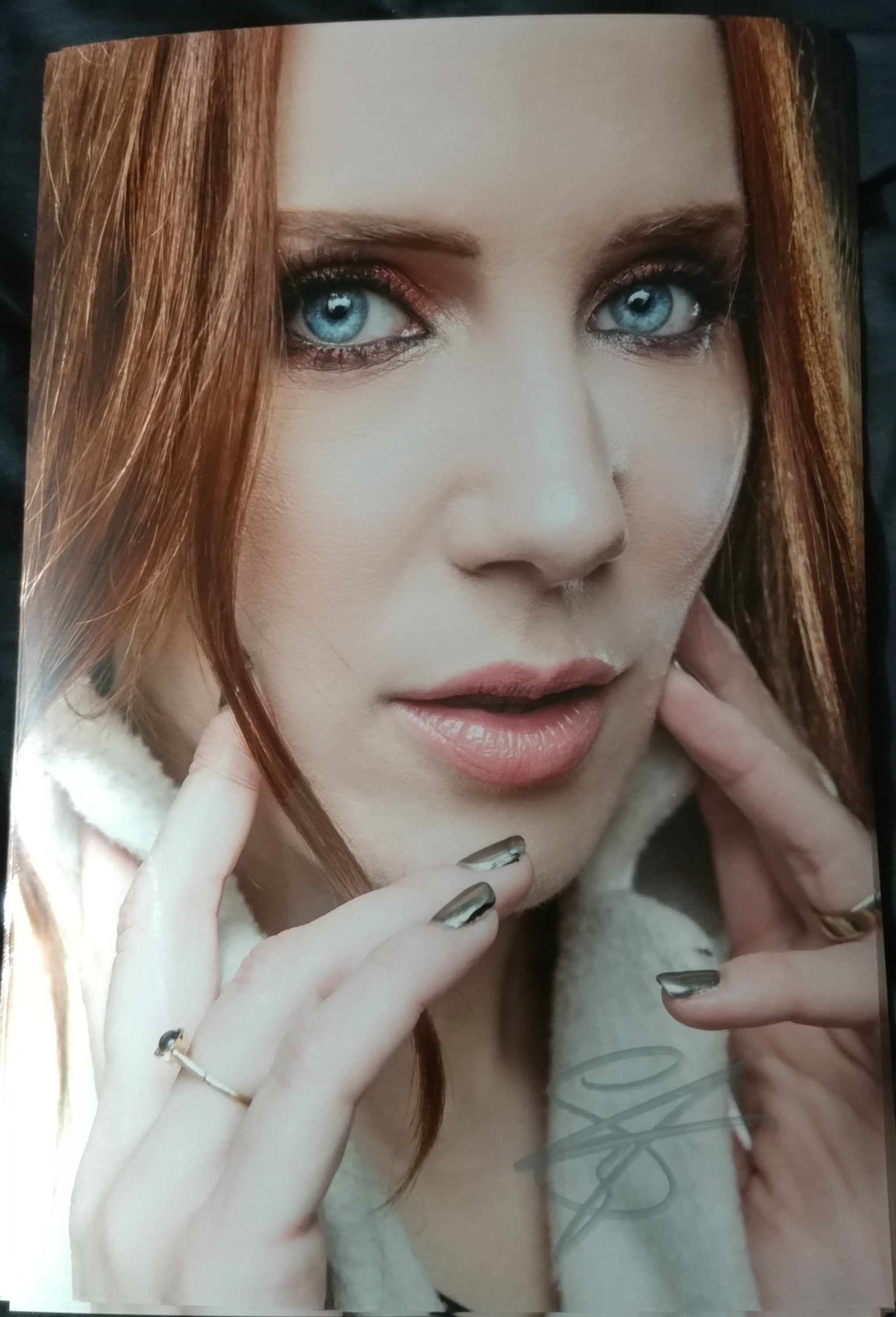 Simone Simons - Portrait - Signed Limited Edition Metallic Print (6 LEFT!)