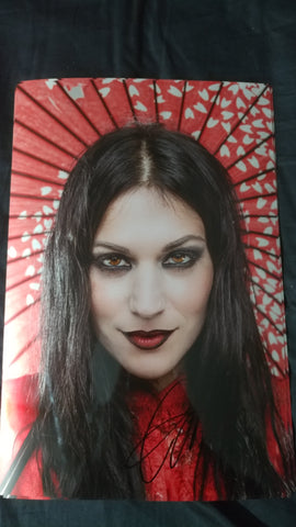 Cristina Scabbia - Hypnotic Red - Signed Limited Edition Metallic Print
