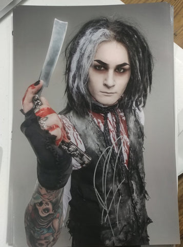Ghost - Sweeny Todd The Demon Barber - signed metallic 8x12 print