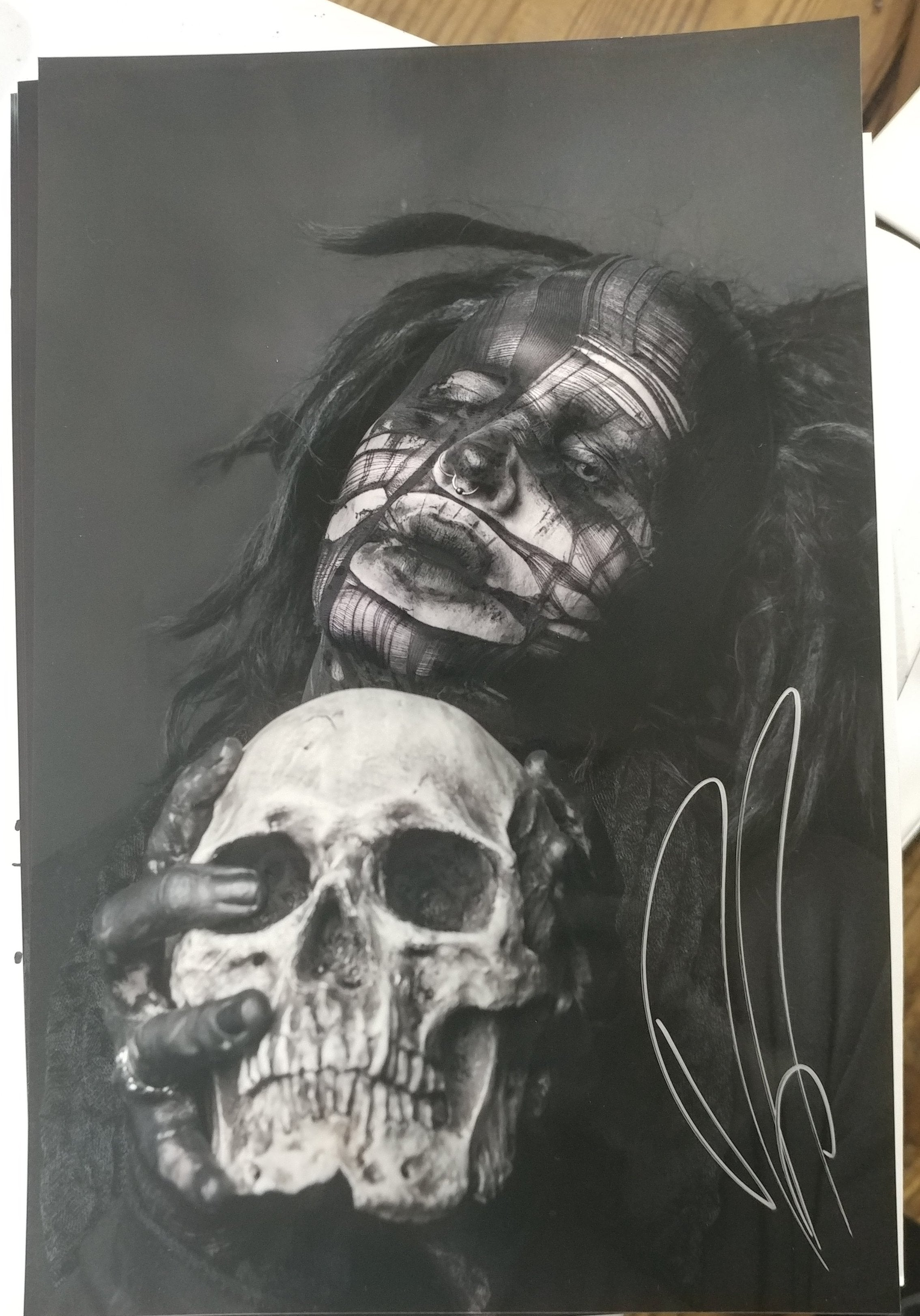 Ghost - The Love of Death - signed limited edition metallic print (only 4 available)
