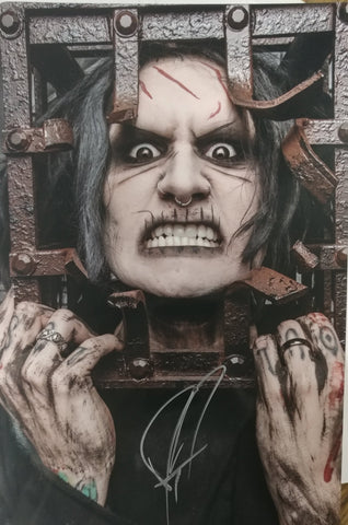 Ghost - Caged Anger - signed limited edition metallic print (only 4 available)