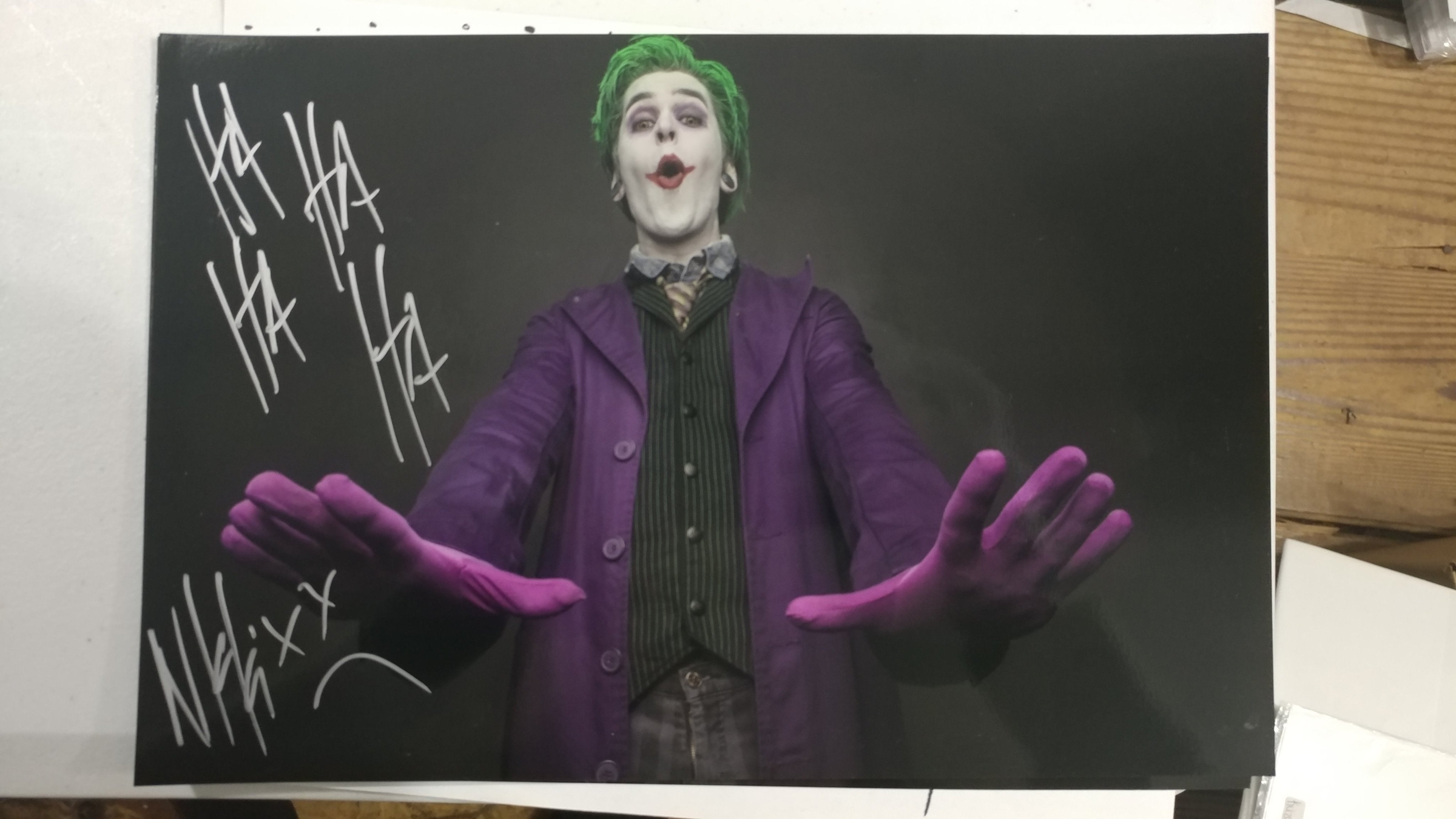 Nikki Misery - Joker - Whoa - Signed Limited Edition Metallic 8x12