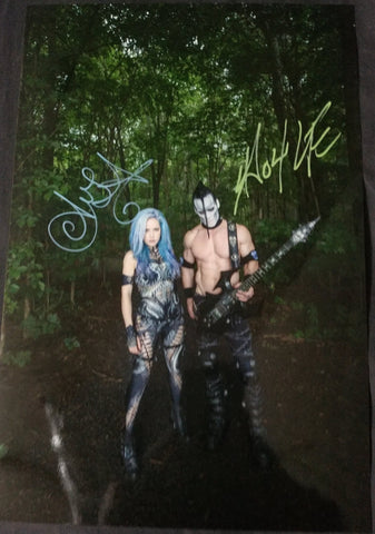 Alissa and Doyle - Vegan Health - Signed Limited Edition Metallic Print