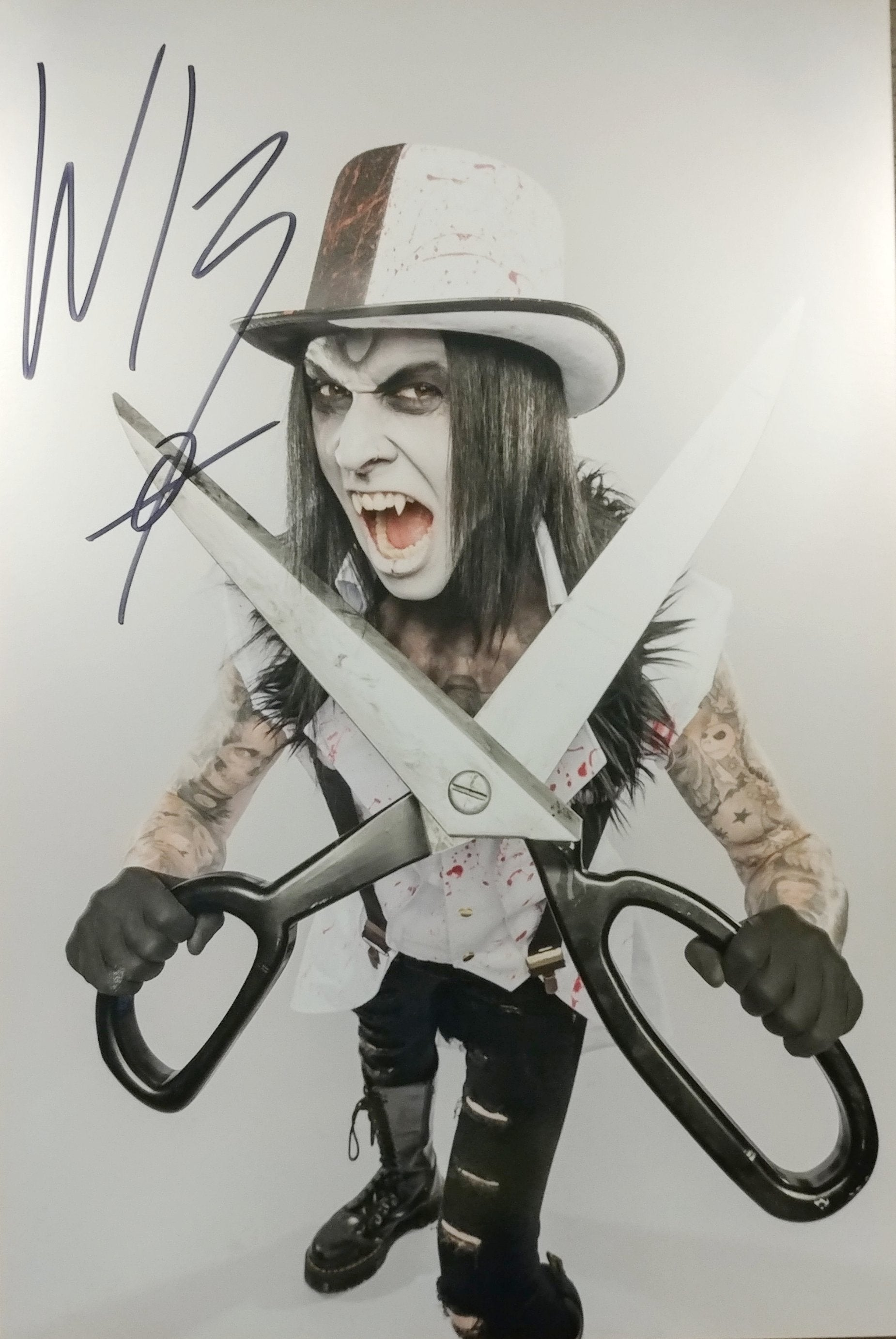 Wednesday 13 - Cut You - signed limited edition 8x12 metallic print (10 available)