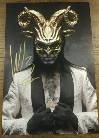 Wednesday 13 - Golden Godless - signed limited edition 8x12 metallic print (10 available)