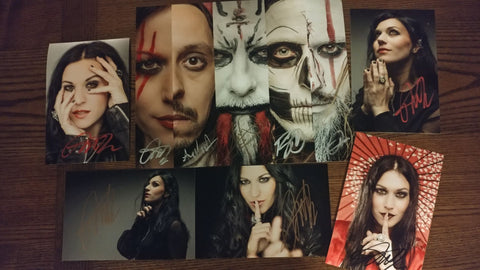 Lacuna Coil - The 5 Faces of Lacuna Autographed BUNDLE