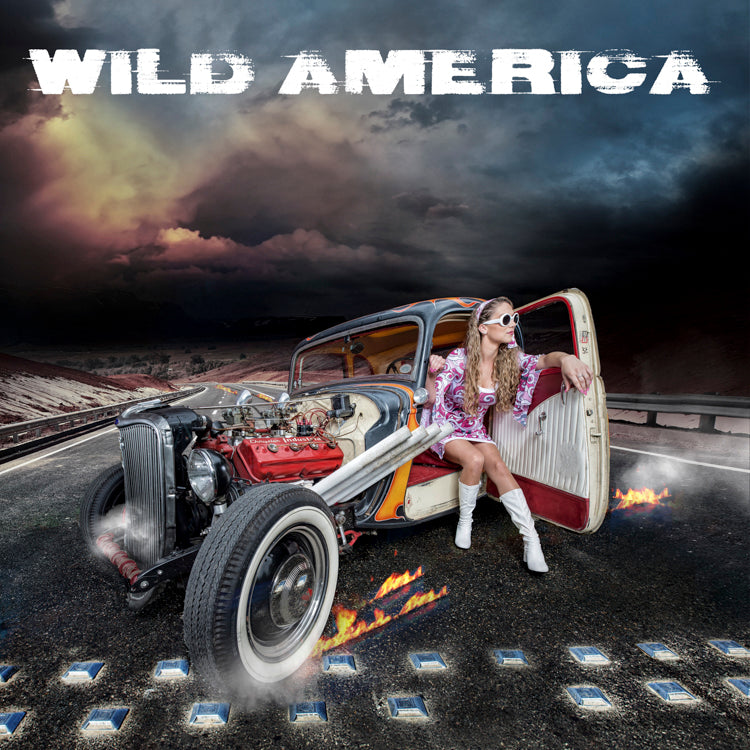 Wild America - Cover art - signed limited edition metallic print