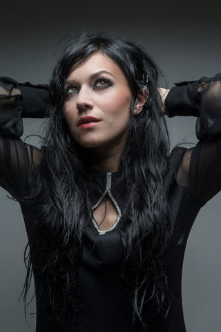 Cristina Scabbia - Grey  - Signed limited edition metallic print