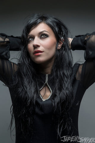 Cristina Scabbia - Grey - Signed Limited Edition Metallic 4x6 Print (4 LEFT!)