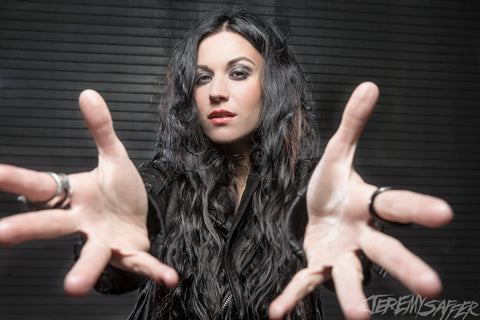 Cristina Scabbia - Reach - Metallic Mini Print
