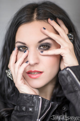 Cristina Scabbia - Peek - Signed Limited Edition Metallic Print