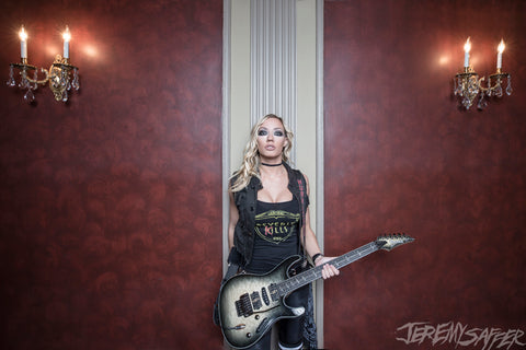 Nita Strauss - Candlelight - Signed Limited Edition Metallic Print