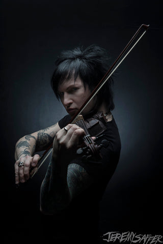Jinxx - The Violinist - signed limited edition 8x12 metallic print