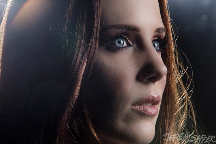 Simone Simons - Portrait - Metallic mini print