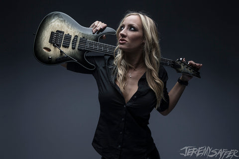 Nita Strauss - Portrait Jiva - Signed Limited Edition Metallic Print