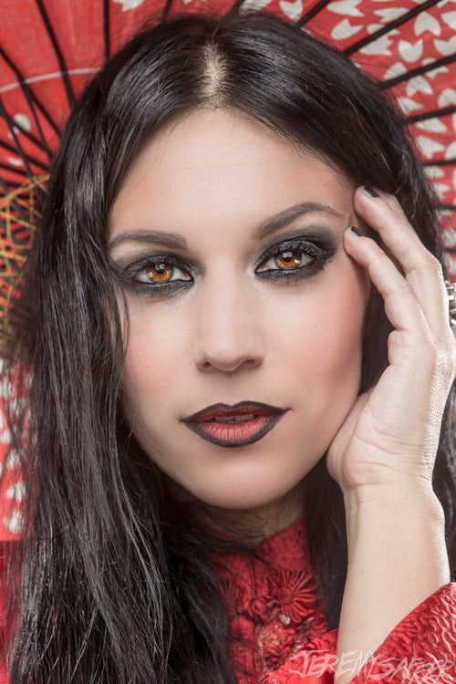 Cristina Scabbia - Red - Metallic Mini Print
