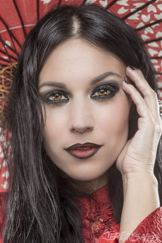 Cristina Scabbia - Red - limited edition metallic print