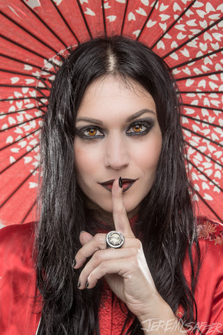 Cristina Scabbia - Shh - Signed Limited Edition Metallic Print