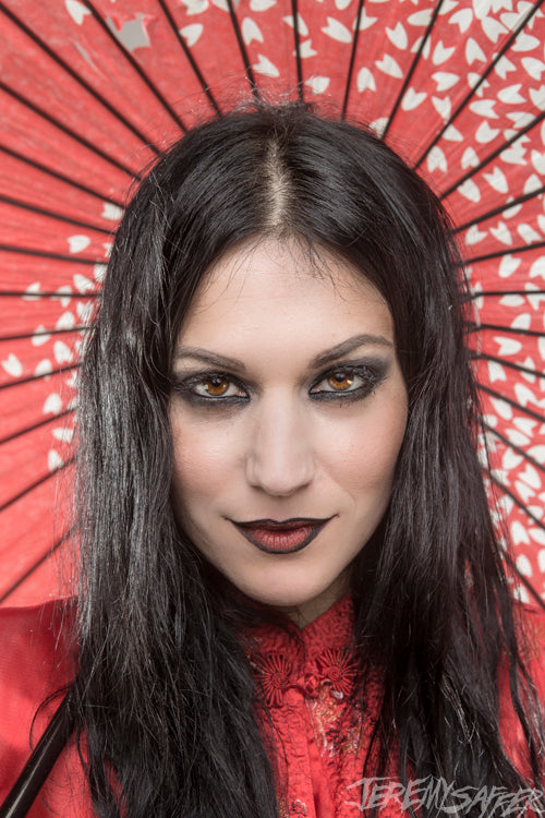 Cristina Scabbia - Hypnotic Red - Signed Limited Edition Metallic 4x6 Print