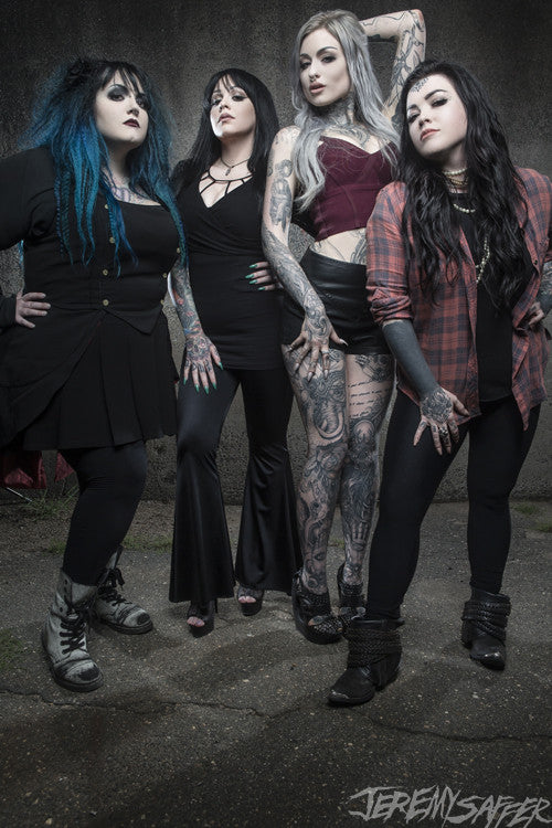 Ladies of Ink Master - 01 - limited edition metallic print (LAST ONE!)