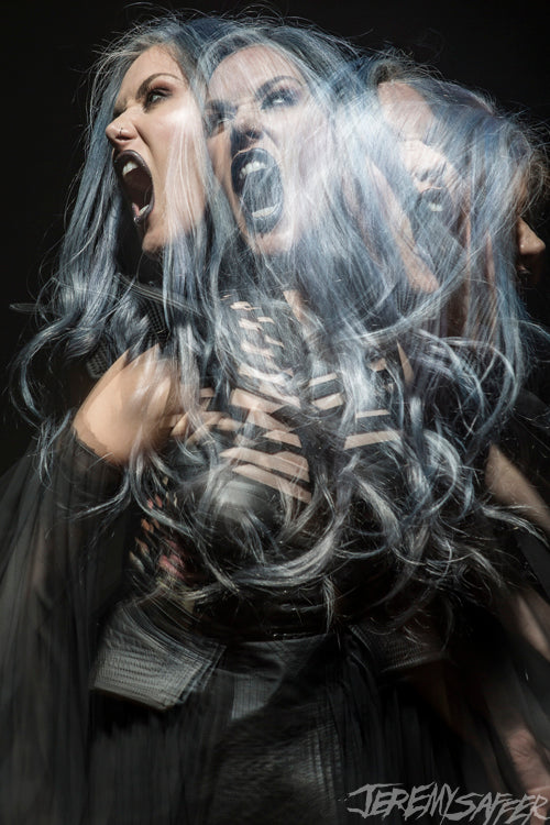Alissa White-Gluz - Stroboscopic 1 - limited edition 8x12 metallic print