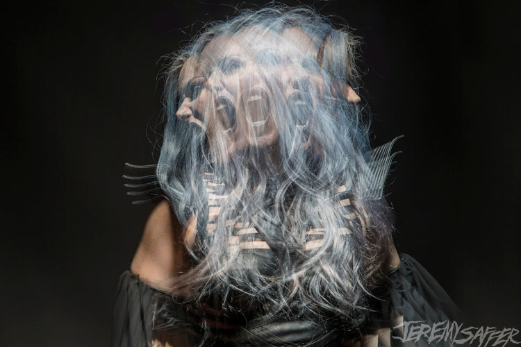 Alissa White-Gluz - Stroboscopic 5 - limited edition 8x12 metallic print