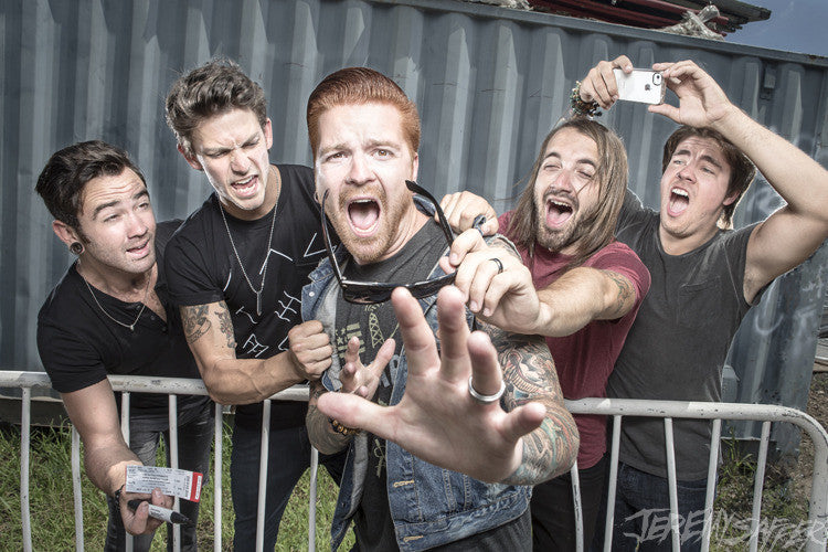 Memphis May Fire - Help Me!- Metallic Mini-Print