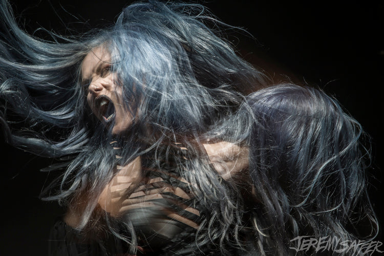 Alissa White-Gluz - Stroboscopic 4 - signed limited edition 8x12 metallic print